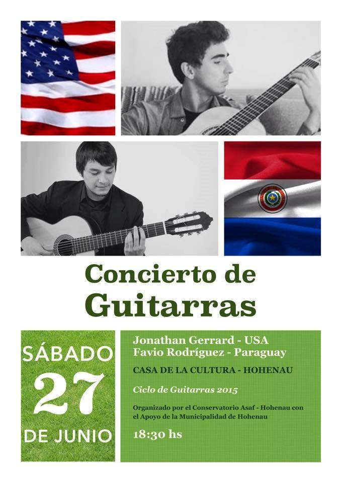 Afiche del Concierto de Guitarras del sábado 27.