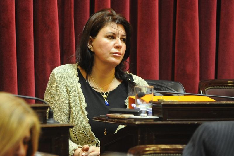 Sandra Giménez, senadora argentina que propuso construir el puente entre Capitán Meza y Colonia Oasis.