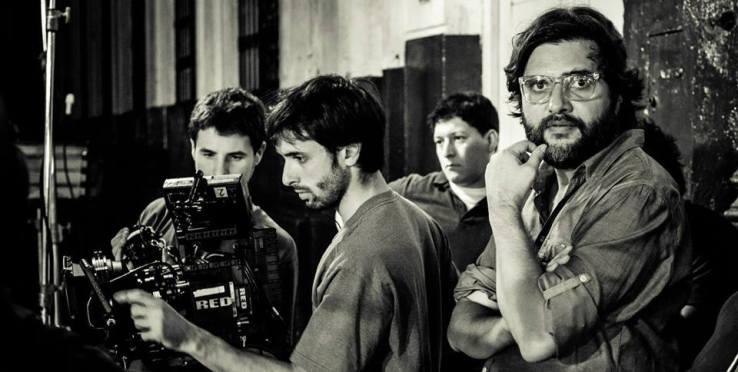 Jorge Díaz de Bedoya mira al frente durante uno de sus rodajes.