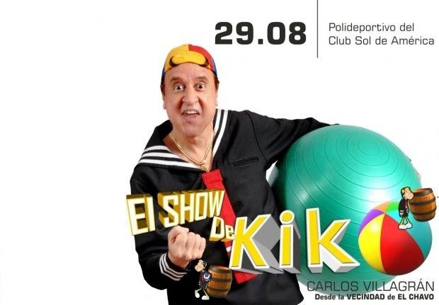 El 29, kiko actúa en Asunción.