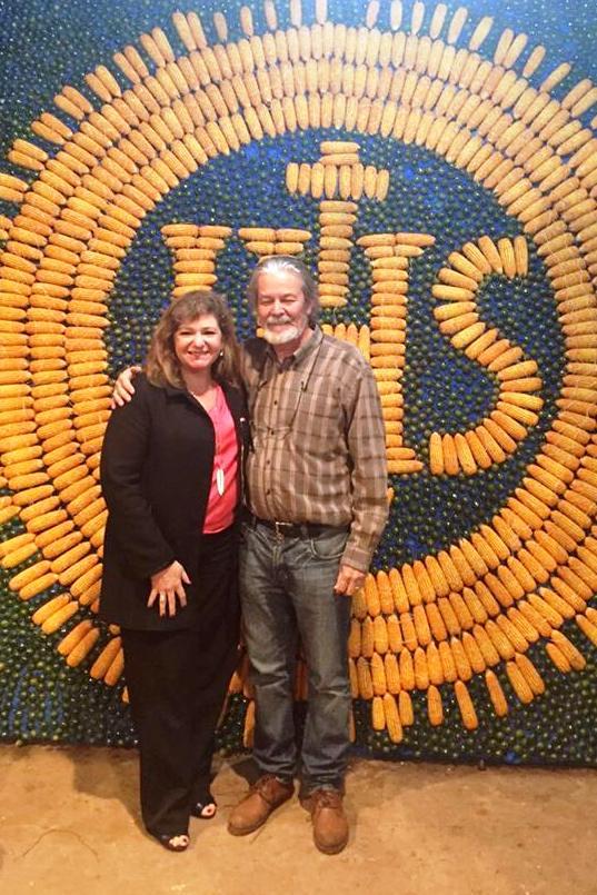 Koki Ruiz junto a la secretaria nacional de Turismo, Marcela Bacigalupo.
