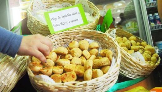 Las chipas de almidón saborizadas con yerba mate también son muy aceptadas.