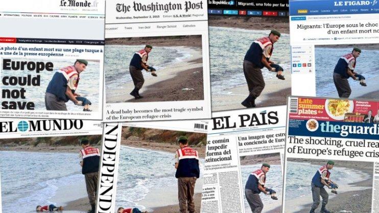 Los principales diarios del mundo dieron cuenta de la muerte de un niño migrante.