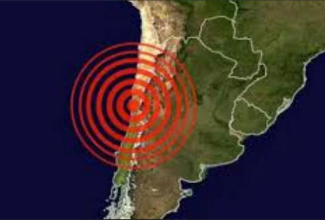 El epicentro del terremoto y la onda expansiva.